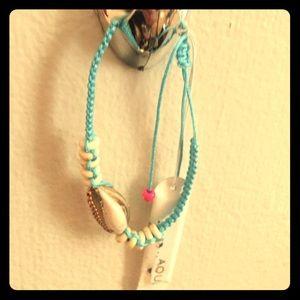 NWT Aqua shell bracelet